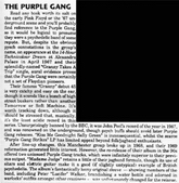 Purple Gang review